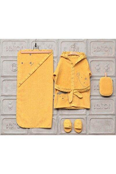 Erkek Kız Bebek Bornoz Seti 0-3 Yaş 888