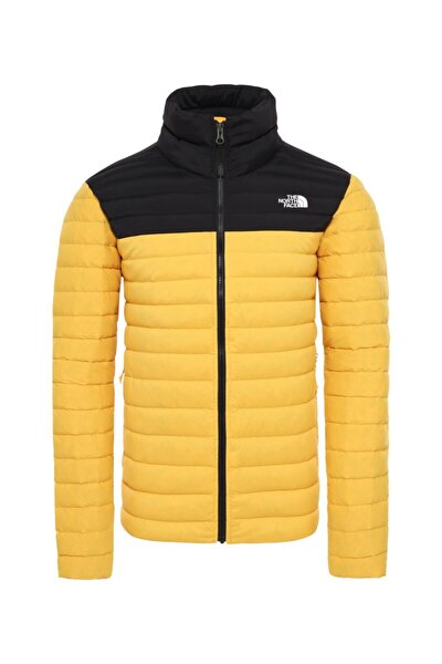 Stretch Down Erkek Outdoor Mont Sarı/siyah