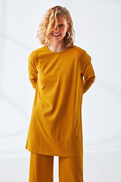 Kadın Sarı Rahat Kesim İkili Takım