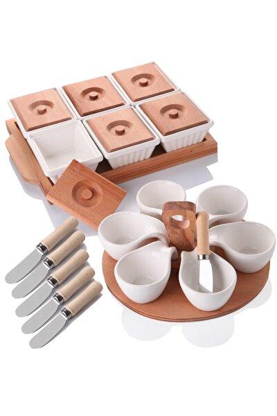 Ahşaplı Lüx Kahvaltı Sunum Seti
