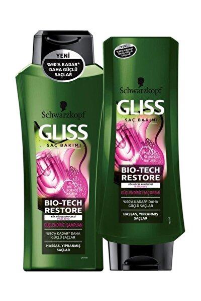 Bio-tech Restore Güçlendirici Şampuan 360 Ml + Bio-tech Restore Güçlendirici Saç Kremi 360 Ml