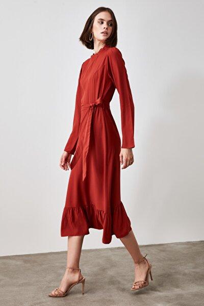 Kiremit Kuşaklı Elbise TWOAW21EL1450