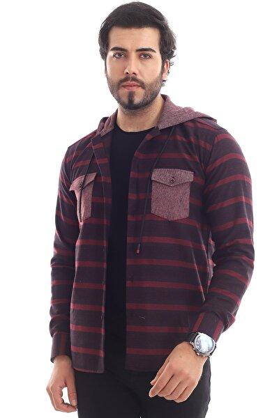 Oduncu Kapüşonlu Rahat Slim Fit Erkek Gömleği