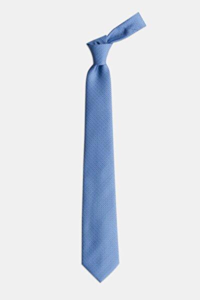 Erkek Mavi  Desenli Kravat