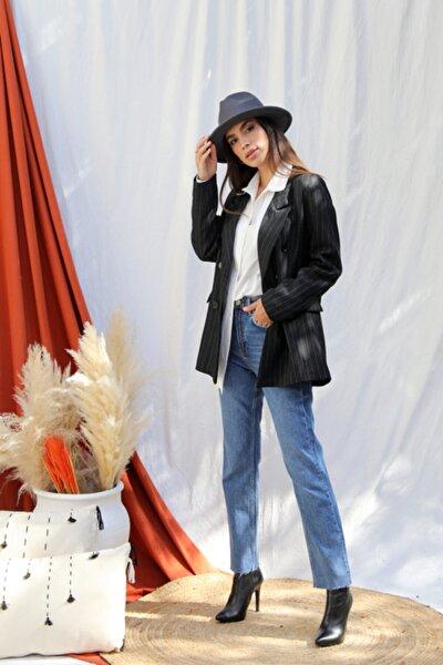 Kadın Antrasit Blazer Ceket