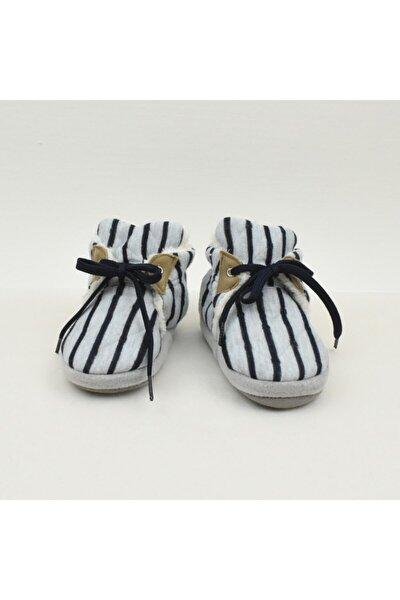 Erkek Bebek Beyaz Çizgili  Patiği