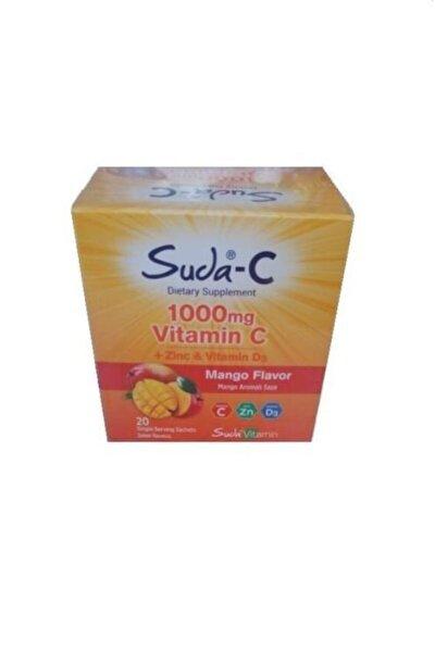 Suda-c Vitamin C + Zinc + Vitamin D3 1000 mg Mango Aromalı 20 Saşe Şeker İlavesiz