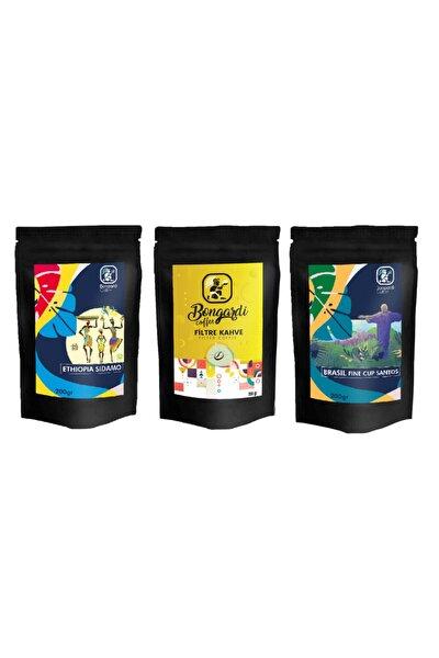 3x200 gr Yöresel Set Brezilyan Santos Etiyopya Intense Filtre Kahve Makinesi Uyumlu