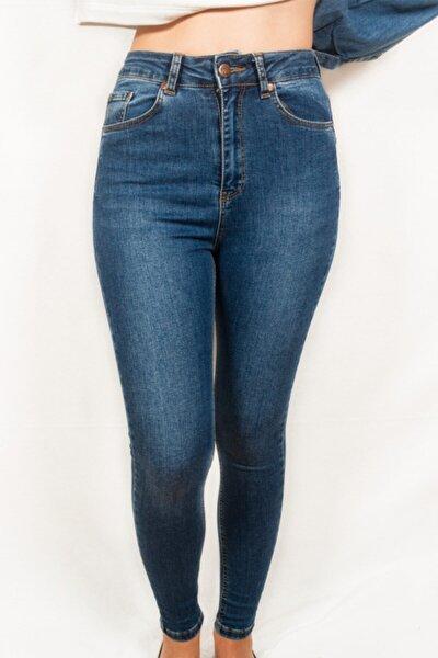 Kadın Yüksek Bel Kot Pantolon