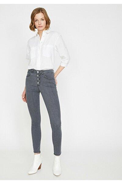 Kadın Gri Pantolon 0YAK47943MD
