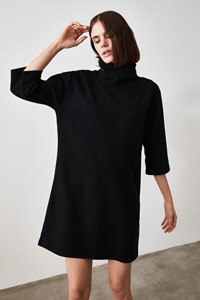 Siyah Selanik Örme Elbise TWOAW20EL1110