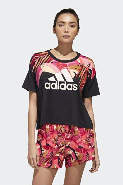 Kadın Siyah Günlük Giyim T-shirt W Farm T Gd9013
