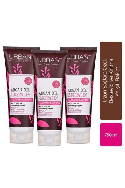Argan Oil & Keratin Saç Bakım Şampuanı x3'lü Avantajlı Set