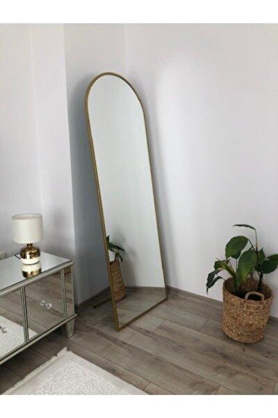 """Gold Metal Çerçeveli Ayaklı Oval Boy Aynası"""""""