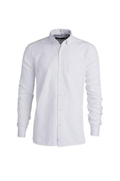 Oxford Shırt Os Beyaz Düğmeli Gömlek