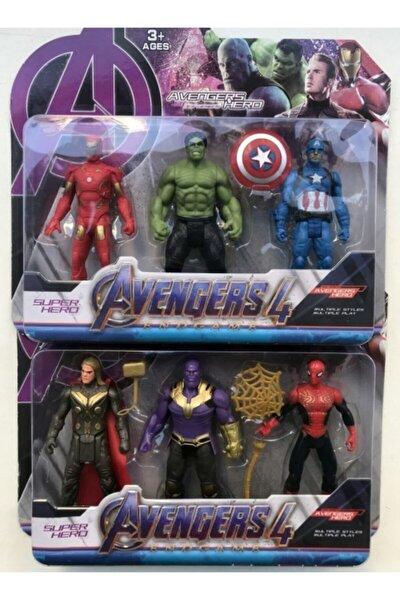 Avengers Süper Kahraman Aksesuarlı Figürler 6'lı