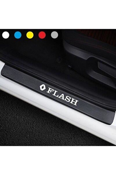 Renault Flash Için Karbon Kapı Eşiği Sticker ( 4 Adet )