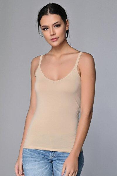 Kadın Ten Rengi Cotton Atlet