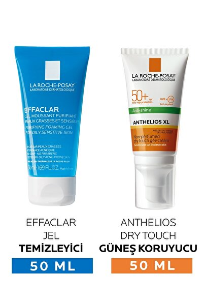 Anthelios Anti-shine Spf 50 50 ml + Effaclar Gel 50 ml Hediyeli