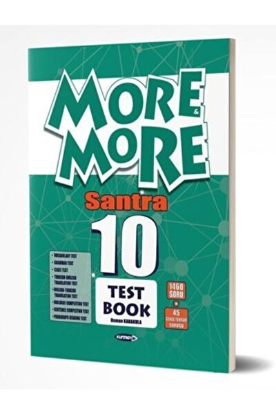 More&more 10 Englısh Santra Test Book-2021