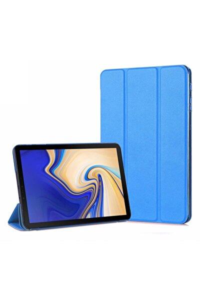 Galaxy Tab A 10.5'' T590 Mavi Microsonic Smart Case ve Arka Kılıf