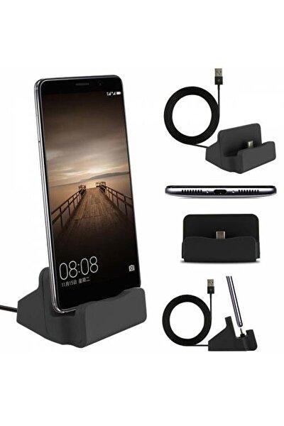 Samsung Galaxy A70 Usb Type C Masaüstü Dock Şarj Kablosu Cihazı Usb Stand