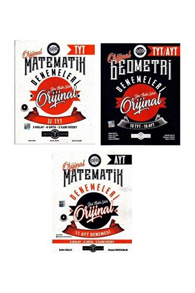 Ayt Tyt Orijinal Matematik + Geometri  3 Lü Deneme Seti Yeni 2020