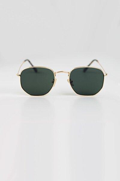 Altıgen Yeşil Cam Güneş Gözlüğü
