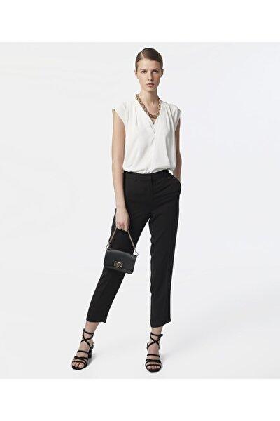 Kadın Siyah Klasik Kesim Pantolon