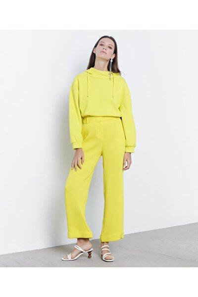 Kadın Sarı Double Paça Pantolon