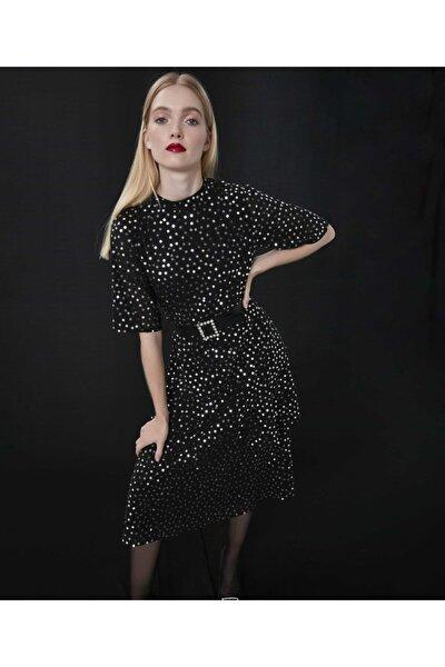 Kadın Siyah Payet İşli Elbise