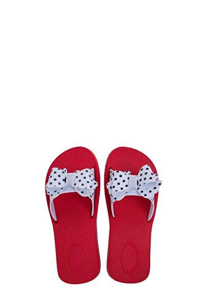 Kız Çocuk Beyaz Kırmızı Terlik E064F001