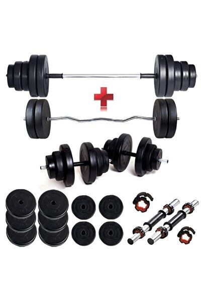 Spor 48 kg Z Bar Halter Seti Ve Dambıl Seti Ağırlık Fitness Seti