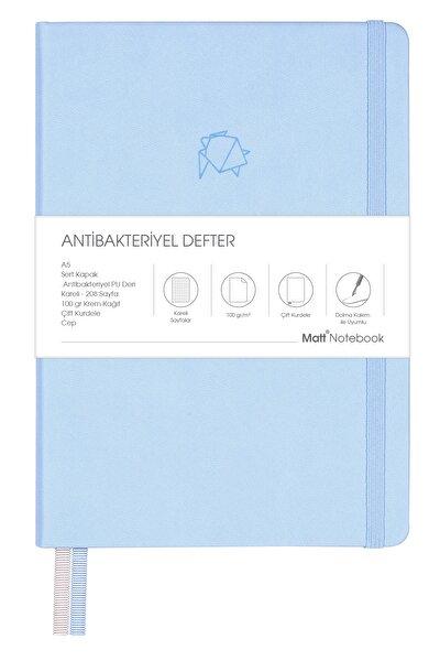A5 Antibakteriyel Defter Kareli Mavi