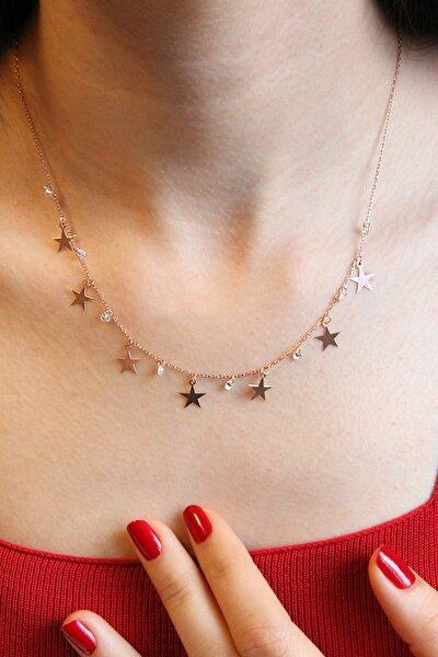 Yıldızlı Gümüş Şans Kolyesi - N155801
