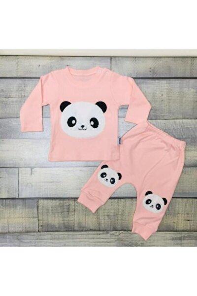 Bebek Somon Panda Nakışlı Takım