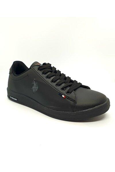 Unisex Siyah Bağcıklı Sneaker Ayakkabı