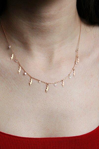 Şimşek Motifli Gümüş Şans Kolyesi - N156101