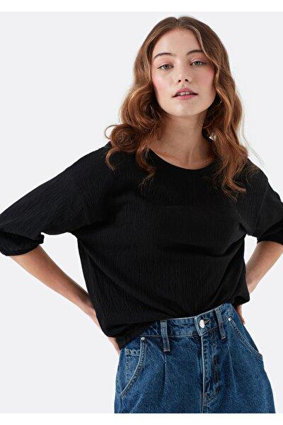 Kadın Uzun Kollu Siyah T-Shirt 168385-900