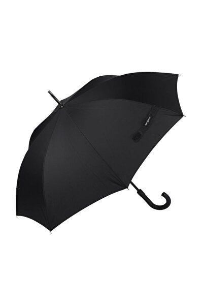Siyah Fiber Baston Rüzgarda Kırılmayan Şemsiye