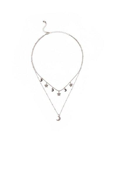Kadın Gümüş Rengi Kolye 197413-24651
