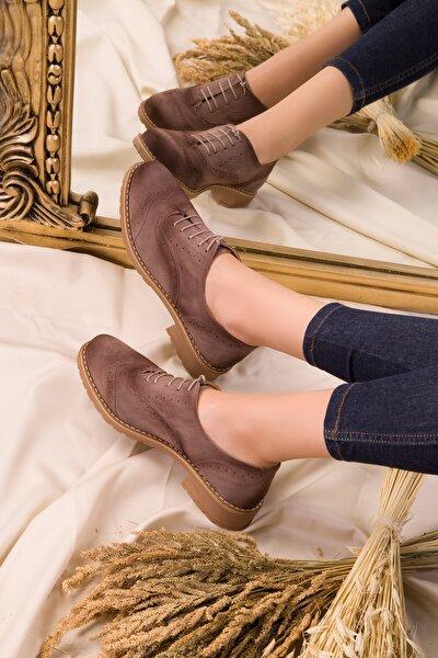 Vizon Süet Kadın Casual Ayakkabı 15541