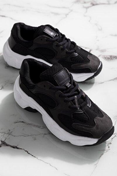 Kadın Siyah Spor Ayakkabı Tb284