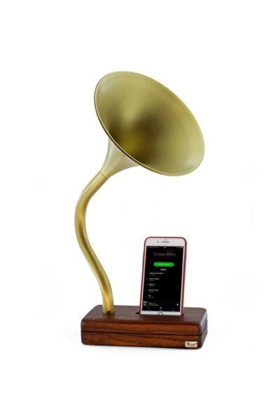 Gold Deju Akustik Gramofon