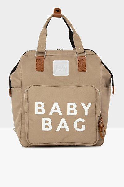Vizon Baby Bag Baskılı Cepli Anne Bebek Bakım Sırt Çantası M000005163