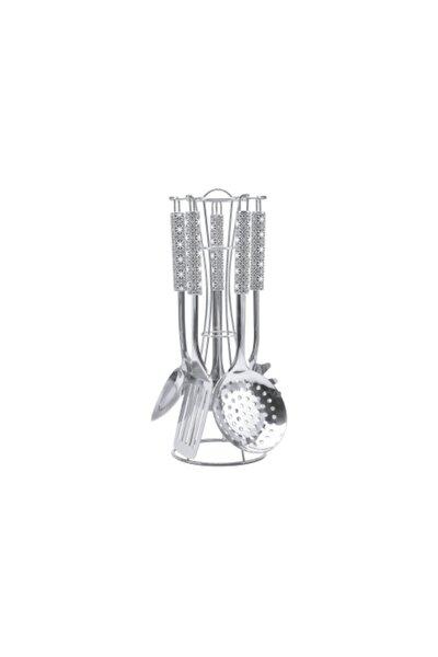 Tac Chef Tools 5 Prç Standlı Kepçe Set Siyah Beyaz