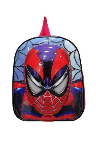 5d Kabartmalı Anaokulu Kreş Ve Günlük Kullanım Çantası Örümcek Adam Sırt Çantası