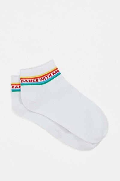 Kadın Beyaz Çorap 196505-620