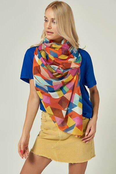 13071 Geometrik Desen Multicolor Şal