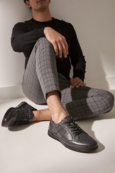 Hakiki Deri Antrasıt Erkek Sneaker 02AYY602580A250